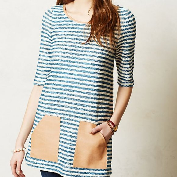 Postage Stamp | Anthro Sapony Stripe Tunic Top